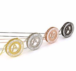 Großhandel A-Z Anfangsbuchstaben Anhänger Charm Zirkonia Halskette für Frau Gold Silber Farbe Großbuchstaben Kette Halskette T051