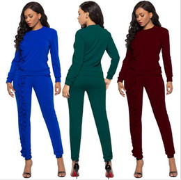 $enCountryForm.capitalKeyWord Australia - Hot Sale Women Sport Tracksuit Hoodies + Pants 2 Piece Woman Set Outfit Solid Color Hollow Out Womens Sweatsuits Sweat Suits 2019 Clothes