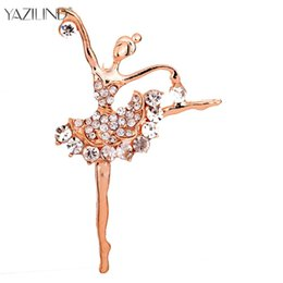 Hijab bouquets online shopping - Ballet Dancer Ballerinas Brooches Women Girls Cachecol Hijab Pin Up Clips Scarf Hats Shoulder Corsages Bouquet