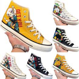 $enCountryForm.capitalKeyWord Australia - With Box 2019 Doodling x 1970s Dragon Ball Canvas Training Sneakers Dragon Ball Doodling Consortium 1970s Buffer Rubber Skateboard Shoe