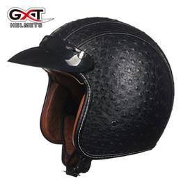 Jet Half Face Helmets Australia - Free shipping Motocycle Classic Vintage jets helmet Open face helmet Retro Motorcycle helmet GXT capacete motoqueiro ew casco moto E5