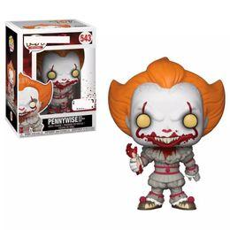 $enCountryForm.capitalKeyWord UK - NEW FUNKO POP Clown Back Spirit Hand Office Model Decoration Toy Pennywise Toys GiftsMovies & Video Game & Cartoon#543