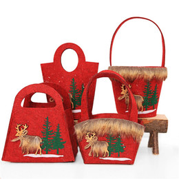 $enCountryForm.capitalKeyWord NZ - 1Pc Innovative Christmas Non-woven Elk Candy Bag Tote Bag Shopping Mall Bar Gift Holders Storage Christmas Decorations 20E