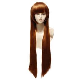 $enCountryForm.capitalKeyWord UK - Synthetic Cosplay Wig Fashion Long Straight Brown Full Hair Wigs Heat Resistant