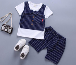 Baby Girl Summer Suits Australia - 2019 Baby Boy Girls Clothes Set Summer Sports Clothes Set Infant Clothing Short Sleeved T-shirts Tops Pants Kids Bebes Jogging Sports Suits