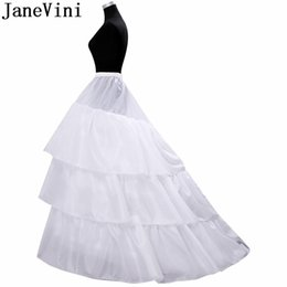 Jupon Mariage 2019 New Elastic Waist White Tulle 4hoops Petticoats Wholesale Enaguas Para El Vestido De Boda Cheap Wide Selection; Petticoats