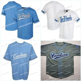 $enCountryForm.capitalKeyWord NZ - Men's North Carolina Tar Heels Baseball Jerseys White Blue All Stitched High Quality Free Shipping Personalized Customized Jerseys