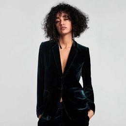 $enCountryForm.capitalKeyWord Australia - New Sexy Women Velour Suit Coat V Neck Single Button Blazer Casual Skinny Slim Women Clothing For Autumn Winter P729