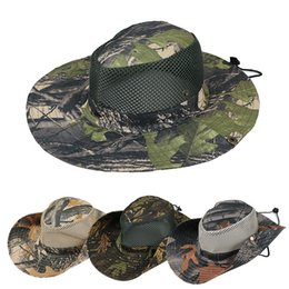 6cad6c2ca0834 Boonie Hat Sport leaf Jungle Military Cap Adults Men Women Cowboy Wide Brim  Hats For Fishing Packable Army Bucket Hat AAA1946