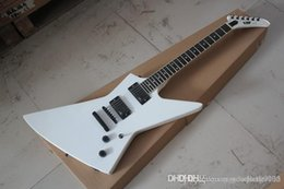 explorers guitar UK - New Arrival Custom Explorer White Electric Guitar EMG Pickup MX-250 II In Stock