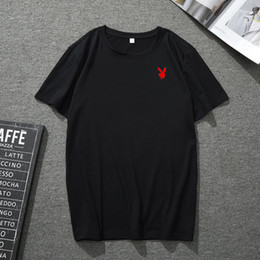 $enCountryForm.capitalKeyWord NZ - American Brand Mens Designer T-shirts Red Bunny Printing Summer Shirts Casual Cotton Tees Leisure Beach Soft Tops