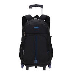 kids backpacks wheels NZ - Trolley Children School Bags Mochilas Removable Kids Backpacks 6 Wheels Large capacity backpack Luggage For Boys backpack Escola