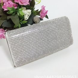 diamante crystal clutch evening bag NZ - New New Silver Diamante Diamond Crystal Evening bag Clutch Purse Party Prom Wedding