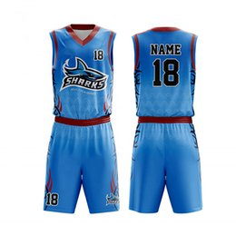 85847daf7b6 Custom Print Men Kids Basketball Jerseys Suit Boys College Mens Basketball  Uniforms Sport Kit Shirts Shorts Set Breathable