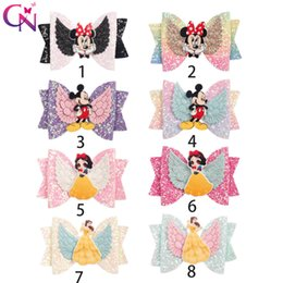 $enCountryForm.capitalKeyWord NZ - CN Hair Accessories Unicorn Barrettes for Girls Glitter Hair Clips Wings Rainbow Hairgrips with Unicorn Bowknot Headwear
