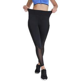 $enCountryForm.capitalKeyWord UK - Women's High Waist Yoga Pants Mesh Workout Leggings Pocket Tights Capri Women Ankle-Length Gym Running Fitness Trousers
