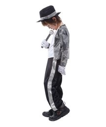 Kids wearing jeans online shopping - Boys Halloween Costume Michael Jackson Billie Jean Child Fancy Dress Costume Kids Performance Clothing dance wear sets