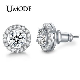 f3f9c2b1e89 UMODE Hearts   Arrows cut Top Quality 0.75 carat AAA+ CZ Stone Stud Earrings  for Women Brincos Oorbellen Boucle D oreille UE0012