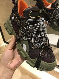 Mountain sneakers online shopping - Designer Flashtrek sneakers with removable women men trainer Mountain Climbing Shoes Mens Outdoor Hiking Increasing Casual boots