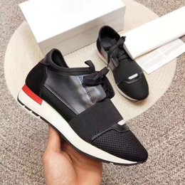 $enCountryForm.capitalKeyWord NZ - Designer luxury Fashion Sneaker Man Woman Casual Shoes Genuine Leather Mesh pointed toe Race Runner Shoes Outdoors Trainers With Box US5-12