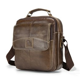 Genuine Leather Crossbody Handbags Wholesale Australia - Men Classic Leather Handbag Casual Business Small Crossbody Bag Shoulder Bag 91201 X324