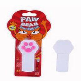 Discount battery toys wholesale - 2019 Cat Footprint Laser LED Infrared Electronic Stick Laser Cat-teasing Pen Cat Fix Battery Pet Toy
