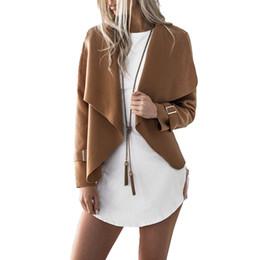 $enCountryForm.capitalKeyWord Australia - Women New Long Sleeve Waterfall Cape Lapel Cool Loose Irregular Jacket Coat Autumn Hot drop shipping