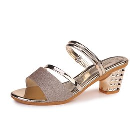 $enCountryForm.capitalKeyWord Australia - Summer 2018 new Korean version sandals for women with thick heels open toes one pair of shoes and two pairs of sandals for women with thick