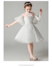 Organza wedding dress girl online shopping - Flower girl dress little girl wedding children s princess skirt girl s birthday poncho yarn host violin p