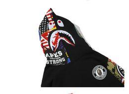 $enCountryForm.capitalKeyWord Australia - Fashion Mens Shark Hoodies New High Street Men's Black Sweater Hedging Cardigan Shark Hooded Sweatshirts Hoodies For Men Jacket