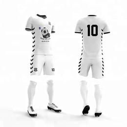 b891bab30 wholesale Men's blank v neck short sleeve soccer jerseys men breathable football  jerseys adult plain soccer uniforms customize any logos je