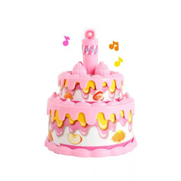 Pink Toy Kitchen Set Australia - Children's Mini Kitchen Toy Set Simulated Little Appliances Playhouse Toys Mini Birthday Cake