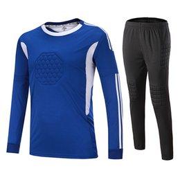 2019 New kids Adult Soccer Goalkeeper Jersey Set Customized Football  Jerseys Short Sleeve T-shirts Kits Survetement football Soccer Sets c550bae59