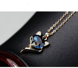Fox Pendant Gold Australia - 2019 new euramerican style fashion original design simple lady's necklace with lovely small fox pendant ,for free shipping