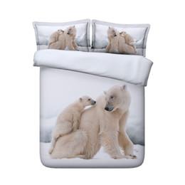 $enCountryForm.capitalKeyWord Australia - White Polar Bear Bedding Set For Kids Girls And Boys Wildlife Theme 3 Pieces Duvet Cover Set 2 Pillow Shams NO Comforter glacier gray duvet