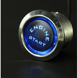 Push button engine starter online shopping - Universal Car Engine Start Push Button Switch Ignition Starter Kit Blue LED V