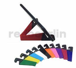 tablet phone foldable holder 2019 - phone holder V Shape Mini Foldable Multifunctional Phone Holder V Shape Design Stand for Cell phone Tablet PC ipad all B
