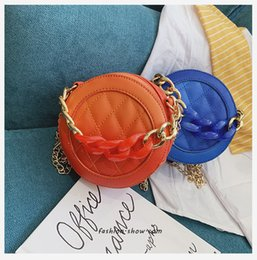 China Girls Ladies Famous Small Round Shoulder Bags Designer Mini Clutch Purses Diamond Lattice Chain Messenger Bags PU Handbags LE323 cheap small animal skulls wholesale suppliers