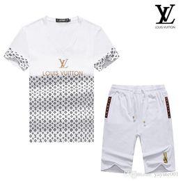 Branded Baby Kids Clothes Australia - HOT! Spring Luxury Designer Baby Boy's t-shirt Pants Two-piec Suit Kids Brand Children's 2pcs Cotton Clothing Sets