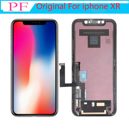 bildschirmersatz großhandel-OEM Original Grad A LCD Touch Display für iPhone XR D LCD Touchscreen Digitizer Full Assembly Black LCD Ersatz Keine toten Pixel