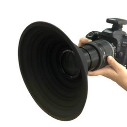 Toptan satış Yansıma-Ücretsiz Katlanabilir Silikon Lens Hood Ultimate Lens Kapak Kamera Görüntü Videoları Fotoğrafçılar için Anti-Cam Lens Hood