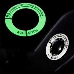 $enCountryForm.capitalKeyWord Canada - Luminous Key Ring Decor Sticker Car Styling Ignition Switch Protective Sticker Auto Interior Accessories C19011001