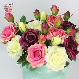 Pc 15 Australia - 7 9 11 15 PCS Purchase Single-Side Latex Coating Home Wedding Decoration Flower Decorative Real Touch Artificial Rose Flowers C18112601
