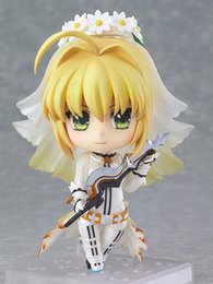 Fate Stay Night Saber Figure Australia - Nendoroid 387 Anime Fate Stay Night Cute Kawaii Saber Bride Ver. Nendoroid Action Figures PVC Doll Collection Model Toys Gifts