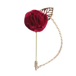 $enCountryForm.capitalKeyWord Australia - 8 Colors Red Rose Flowers Lapel Pin Mens Wedding Bouquet Handmade Brooch Groomsmen Groom Corsage and Boutonnieres