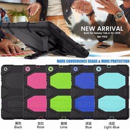 Venta al por mayor de 2019 para Samsung Galaxy Tab T510 10.1 pulgadas Tableta militar Extreme Heavy Duty CASE a prueba de golpes con protector de pantalla Soporte de soporte Estuche
