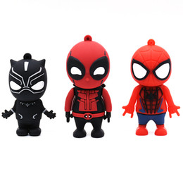$enCountryForm.capitalKeyWord Australia - Usb Flash Black Panther Spiderman Deadpool Pendrive 4gb 8gb 16gb 32gb 64gb 128gb U Memory Stick Pen Drive Gift