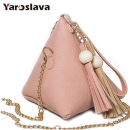 ladies trendy handbags NZ - bag ladies 2019 New European Trendy Small Purse Fringe Bag Ladies Wallet Triangle Women's Clutches Casual Leather Handbags LL518