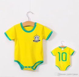 Cheap Hot Summer Clothes NZ - Cute world cup rompers baby colorful clothes hot sale cheap Kids new born Clothing 2018 Summer Suits 0-3 years
