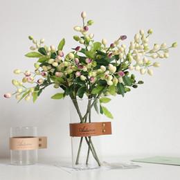 $enCountryForm.capitalKeyWord Australia - Fake Olive Fruit Bean Branch Flowers For Christmas Artificial Plant Berry Flowers For Wedding Home Room Decor Flower Plant Wall